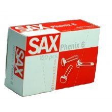 SAX Rundkopfklammern Phenix Nr. 6 100 Stück 27,5 mm Messing
