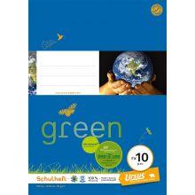 URSUS GREEN Heft FX10 A4 20 Blatt glatt blau