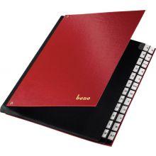 BENE Pultordner 75116 A4 A-Z 24-teilig rot