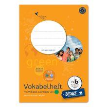 URSUS GREEN Vokabelheft FX6 A5 20 Blatt 80 g/m² liniert mit Mittelstrich