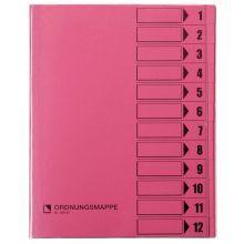 BENE Ordnungsmappe 83800 12-teilig A4 rosa
