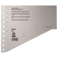 LEITZ Staffel-Trennblätter 1651 100 Stück A4 Überbreite grau