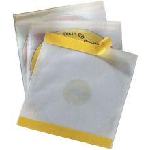 DURABLE CD/DVD-Hüllen 5210 10 Stück mit Schutzvlies selbstklebend transparent