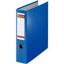 BENE Postscheckordner 292900 7,5 cm PP mit 2 Hebelmechaniken blau