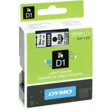 DYMO Schriftband 45800 D1 19 mm x 7 m schwarz auf transparent