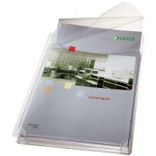 LEITZ Prospekthülle 4757 Maxi 5 Stück A4 mit Klappe PVC transparent