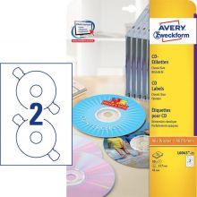 AVERY ZWECKFORM CD-Etiketten L6043-25 50 Etiketten Ø 117 mm weiß