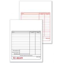 OMEGA Kassenblock G5 10 x 14,5 cm 2 x 50 Blatt mit Nummer MwSt. weiß