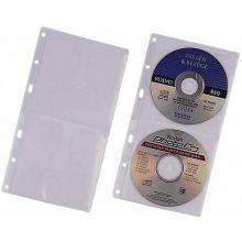 DURABLE CD-Hüllen 5203 5 Stück für je CDs/DVDs transparent