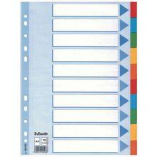 ESSELTE Register A4 10-teilig mehrfarbig