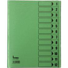 BENE Ordnungsmappe 84800 mit Schutzumschlag 12-teilig A4 grün