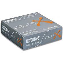 RAPID Heftklammern 21808300 Duax 1000 Stück verzinkt silber