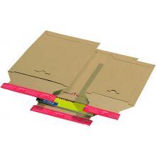 COLOMPAC Kartontasche  mit Haftstreifen 235 x 310 mm braun