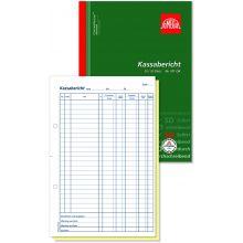 OMEGA Kassaberichtsbuch 101 OK A4  2 x 50 Blatt selbstdurchschreibend