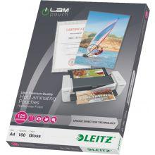 LEITZ Heißlaminierfolien iLAM 7481 100 Stück A4 125 µm glasklar