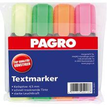 PAGRO Textmarker 4 Stück im Etui mehrere Farben