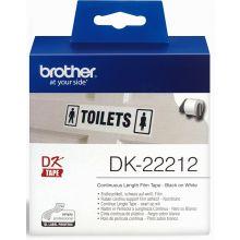 BROTHER Etikettenrolle DK-22212 62 mm x 15,24 m weiß