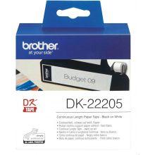BROTHER Etikettenrolle DK-22205 62 x 30,48 mm weiß