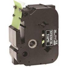 BROTHER Schablonenbandkassette für P-Touch 3,6 cm schwarz auf transparent