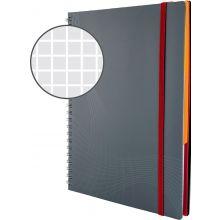 AVERY ZWECKFORM Notizbuch notizio 7015 mit Kunststoffcover DIN A5 90 Blatt 90g/m² kariert grau