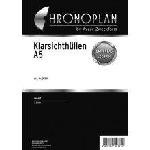 CHRONOPLAN Kalendereinlage 50381 Klarsichthülle 5 Stück A5 transparent