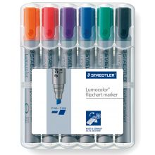 STAEDTLER Flipchartmarker 356B WP6 mit Keilspitze 6 Stück mehrere Farben