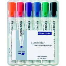 STAEDTLER Whiteboardmarker 351BWP6 mit Keilspitze 6 Stück mehrere Farben