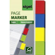 SIGEL Index Haftmarker 5 x 2 cm 160 Stück mehrere Farben