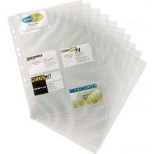 DURABLE Visitkartenhüllen 2389 Visifix 10 Stück A4 für 200 Karten transparent