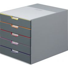 DURABLE Schubladenbox 7605 Varicolor 5 Laden grau