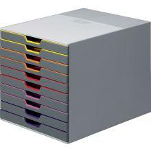 DURABLE Schubladenbox 7610 Varicolor 10Laden grau