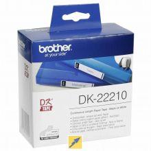 BROTHER Endlosetiketten DK-22210 29 mm schwarz auf weiß