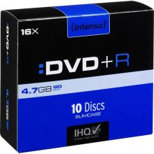 INTENSO DVD+R 10 Stück im Slim Case
