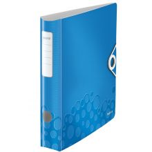 LEITZ Ordner WOW 1107 A4 6,5 cm blau-metallic
