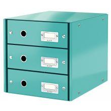 LEITZ Schubladenbox Click & Store 6048 mit 3 Schubladen eisblau