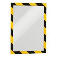 DURABLE Informationsrahmen Duraframe Security 2 Stück DIN A4 gelb/schwarz