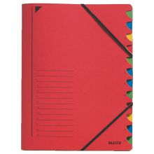 LEITZ Ordnungsmappe 391203 A4 12-teilig rot