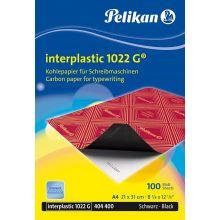 PELIKAN Kohlepapier Interplastic 1022G 100 Blatt A4 schwarz
