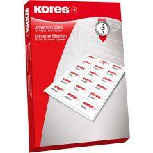 KORES Universal-Etiketten 10,5 x 5,7 cm 1000 Stück weiß