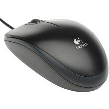 LOGITECH Maus B100 USB schwarz