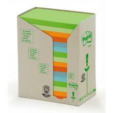 POST-IT® Haftnotizen Recycling Notes 655-1RPT 16 Blöcke à 100 Blatt 127 x 76 mm farbig sortiert