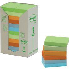 POST-IT® Haftnotizen 653-1RPT Recycling Notes 24 Blöcke à 100 Blatt 51 x 38 mm farbig sortiert