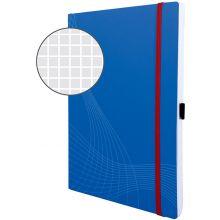 AVERY ZWECKFORM Notizbuch notizio 7045 mit Softcover DIN A4 80 Blatt 90g/m² kariert blau