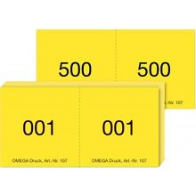OMEGA Bonblöcke 5 Stück à 100 Blatt gelb