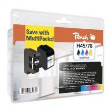 PEACH Tinte PI300-132 Rebuilt HP Nr. 45 Multipack schwarz/farbig