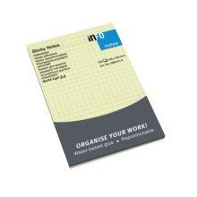 INFO NOTES Haftnotizen 10 x 15 cm kariert 12 Stück à 100 Blatt gelb