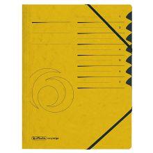 HERLITZ Ordnungsmappe Quality DIN A4 7 Fächer Karton gelb