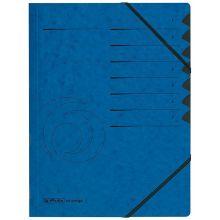 HERLITZ Ordnungsmappe Quality DIN A4 7 Fächer Karton blau