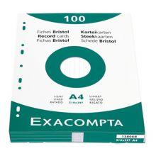 EXACOMPTA Karteikarten A7 liniert 100 Stück weiß