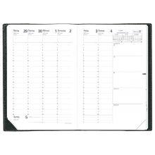 QUO VADIS Kalender Minister 16 x 24 cm 1 Woche auf 2 Seiten 2020 schwarz